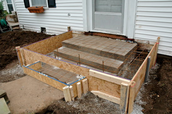 Potholes pantyhose whine fest and concrete porches for Steps to building a house from the ground up
